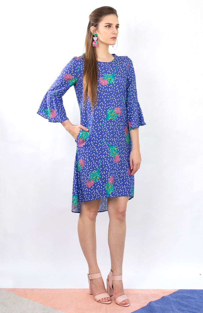 Take a Risk Dress in Wattle
