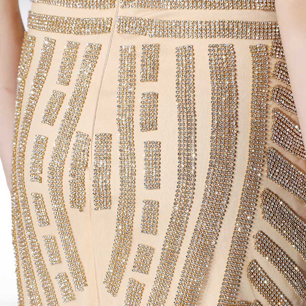 Luxurious Beads Short Prom Dresses V-Neck Evening Dresses Spaghetti Straps Tight Fitting Formal Dresses