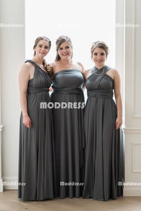 Simple Convertible Long Bridesmaid Dresses Cheap Wrapped Bridesmaid Dresses A-Line Bridesmaid Dresses