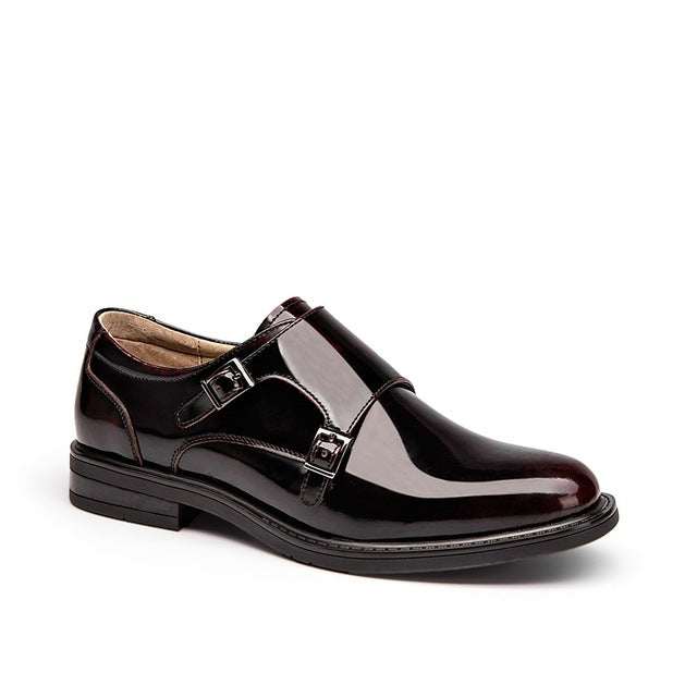 Top Quality Genuine Patent  Leather Oxfords  with Buckle Strap. 2 Colors