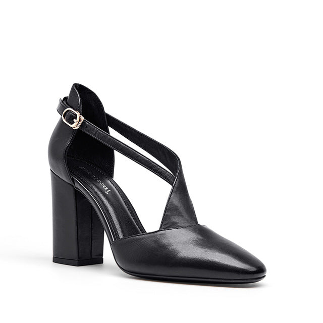 Top Quality Leather High Heel D'Orsay Pumps