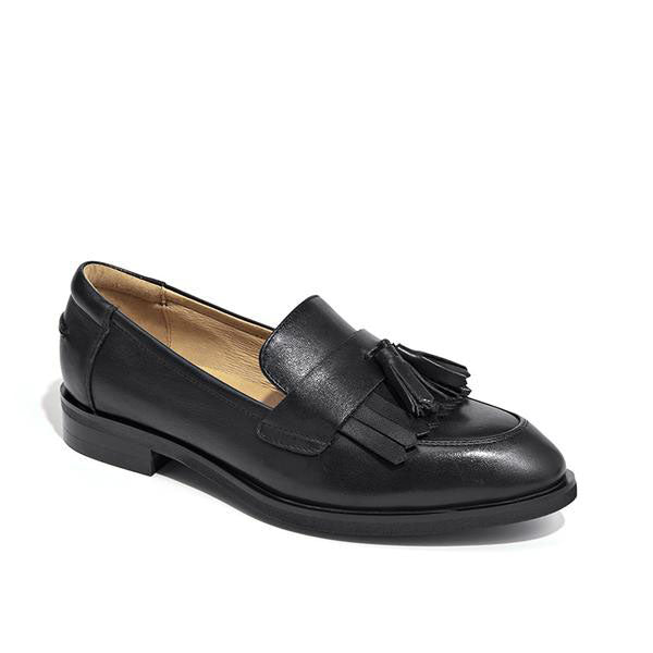 Handmade Leather  Loafers with Tassel Fringe. 3 Colors