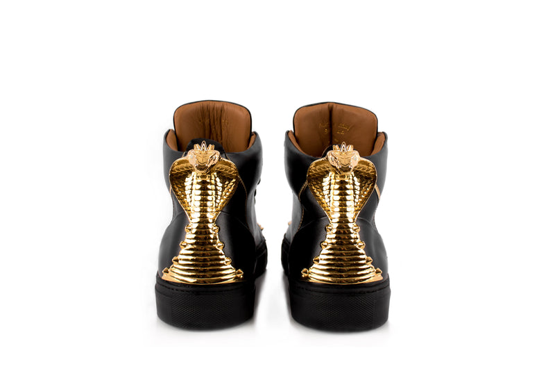 Black Cobra Statue High-Top Sneaker Edition Diamond