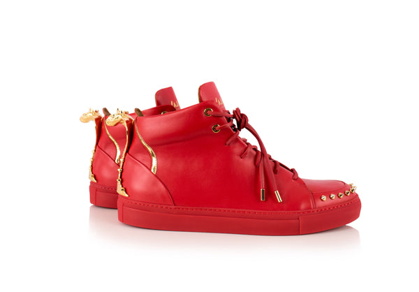 Red Cobra Statue High-Top Sneaker Edition Diamond Women