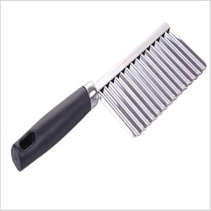 Potato Wavy Edged Tool Stainless Steel Kitchen Gadget Vegetable Fruit Cutting the goods for kitchen