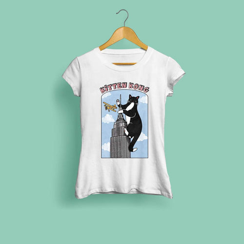 Kitten Kong Ladies T-Shirt by Kerris Ganeson on Katt.