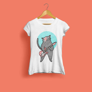 Moggy Stardust Ladies T-Shirt by Kerris Ganeson on Katt.