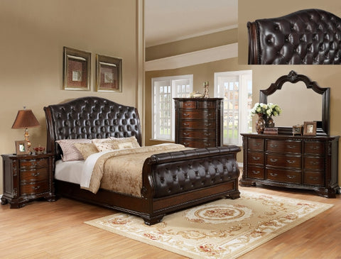 SHEFFIELD SLEIGH UPSCALE BED ROOM SET