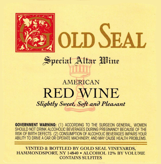 GOLD SEAL American Red Altar Wine
