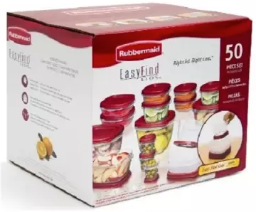 Rubbermaid Easy Find Lid Food Storage Set - 50 Pieces
