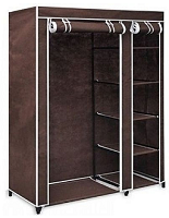 Universal Mobile Wardrobe With Wheels -(Brown)