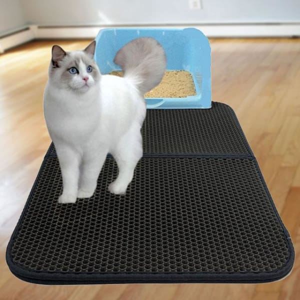 $62.50 - KITTY LITTER TRAPPING MAT - HONEYCOMB DESIGN (2) TRAVEL PETS
