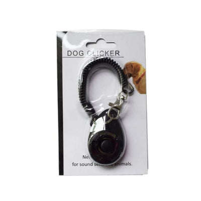 $19.99 - PET DOG TRAINING CLICKER PET TRAINER TOOL KEY CHAIN BLACK 0.2KG (6) TRAVEL PETS