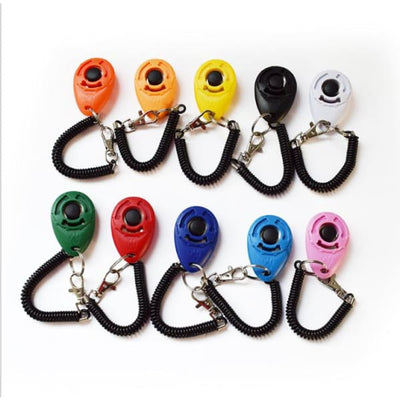 $19.99 - PET DOG TRAINING CLICKER PET TRAINER TOOL KEY CHAIN (17) TRAVEL PETS
