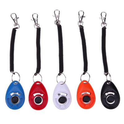 $19.99 - PET DOG TRAINING CLICKER PET TRAINER TOOL KEY CHAIN (2) TRAVEL PETS