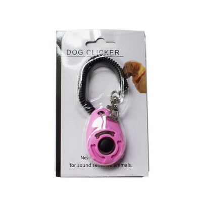 $19.99 - PET DOG TRAINING CLICKER PET TRAINER TOOL KEY CHAIN PINK 0.2KG (9) TRAVEL PETS