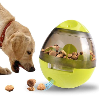 $29.95 - DOG TREAT DISPENSING INTERACTIVE BALL GREEN 0.35KG (2) TRAVEL PETS