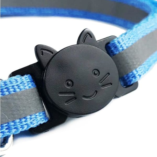 $12.50 - REFLECTIVE SAFETY BREAKAWAY ADJUSTABLE CAT COLLAR WITH BELL (2) TRAVEL PETS