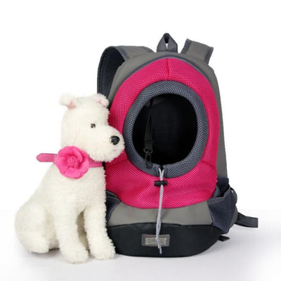$39.95 - SMALL ANIMAL CARRIER BACKPACK - FOR CATS DOGS & SMALL ANIMALS PINK 1KG (10) TRAVEL PETS