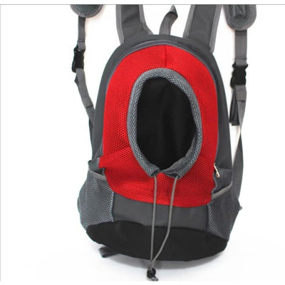 $39.95 - SMALL ANIMAL CARRIER BACKPACK - FOR CATS DOGS & SMALL ANIMALS RED 1KG (3) TRAVEL PETS