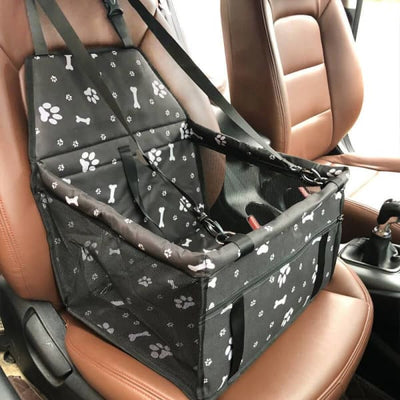 $59.95 - PET CAR SEAT BOOSTER FOR DOGS CATS & SMALL ANIMALS PAWS & BONES / BLACK 1KG (18) TRAVEL PETS