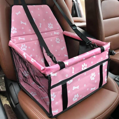 $59.95 - PET CAR SEAT BOOSTER FOR DOGS CATS & SMALL ANIMALS PAWS & BONES / PINK 1KG (1) TRAVEL PETS