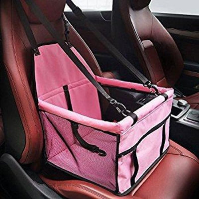 $59.95 - PET CAR SEAT BOOSTER FOR DOGS CATS & SMALL ANIMALS PLAIN / PINK 1KG (7) TRAVEL PETS