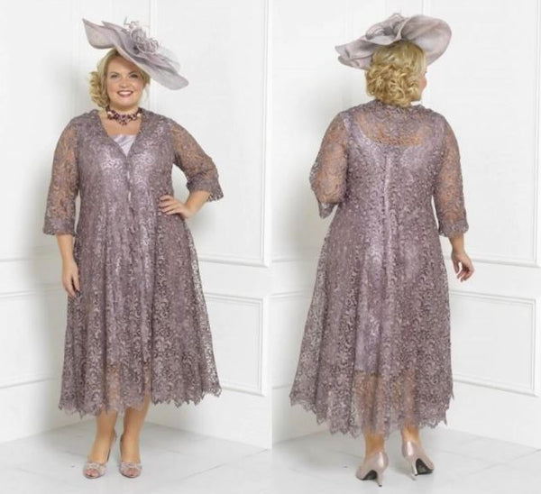 Tea Length Mother Of The Bride Dress and Lace Jacket by Pick a Product