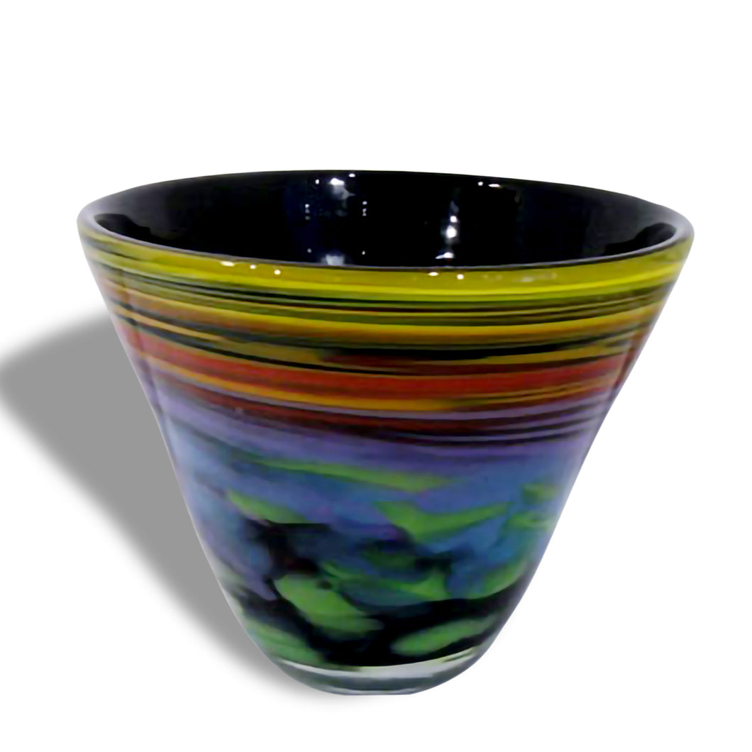 Black Spiral Seaside Glass Bowl