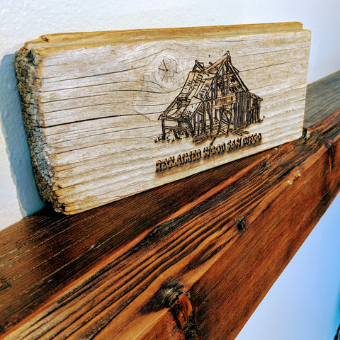 "Reclaimed Wood Fireplace Mantel, 4""x4"" Finished"