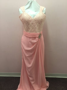 Pale Pink Lace Gown