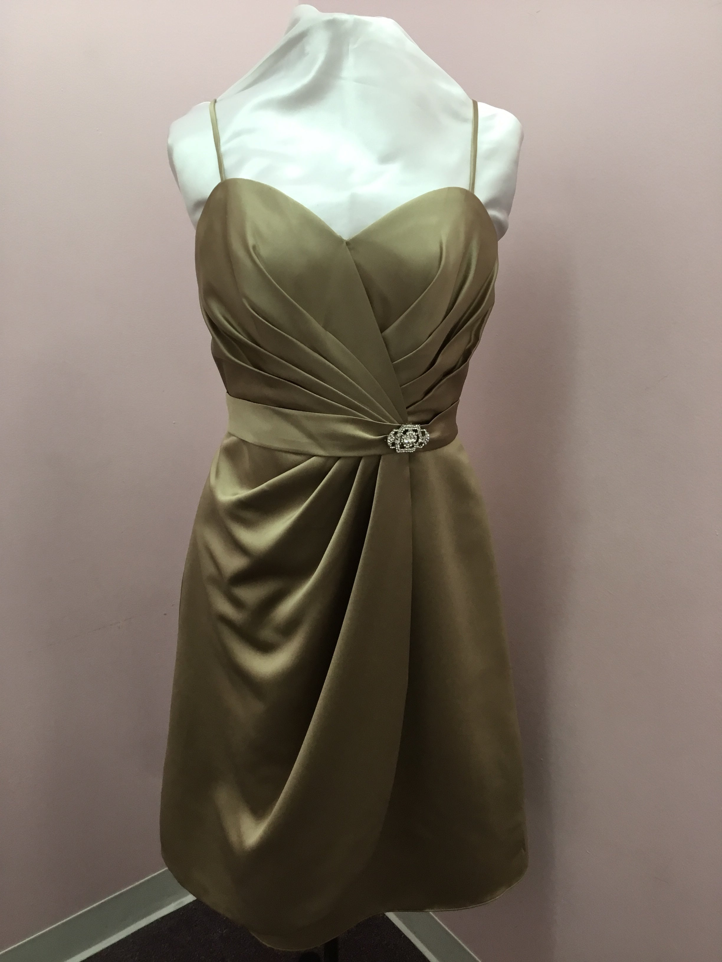 Spaghetti Strap Bronze Dress