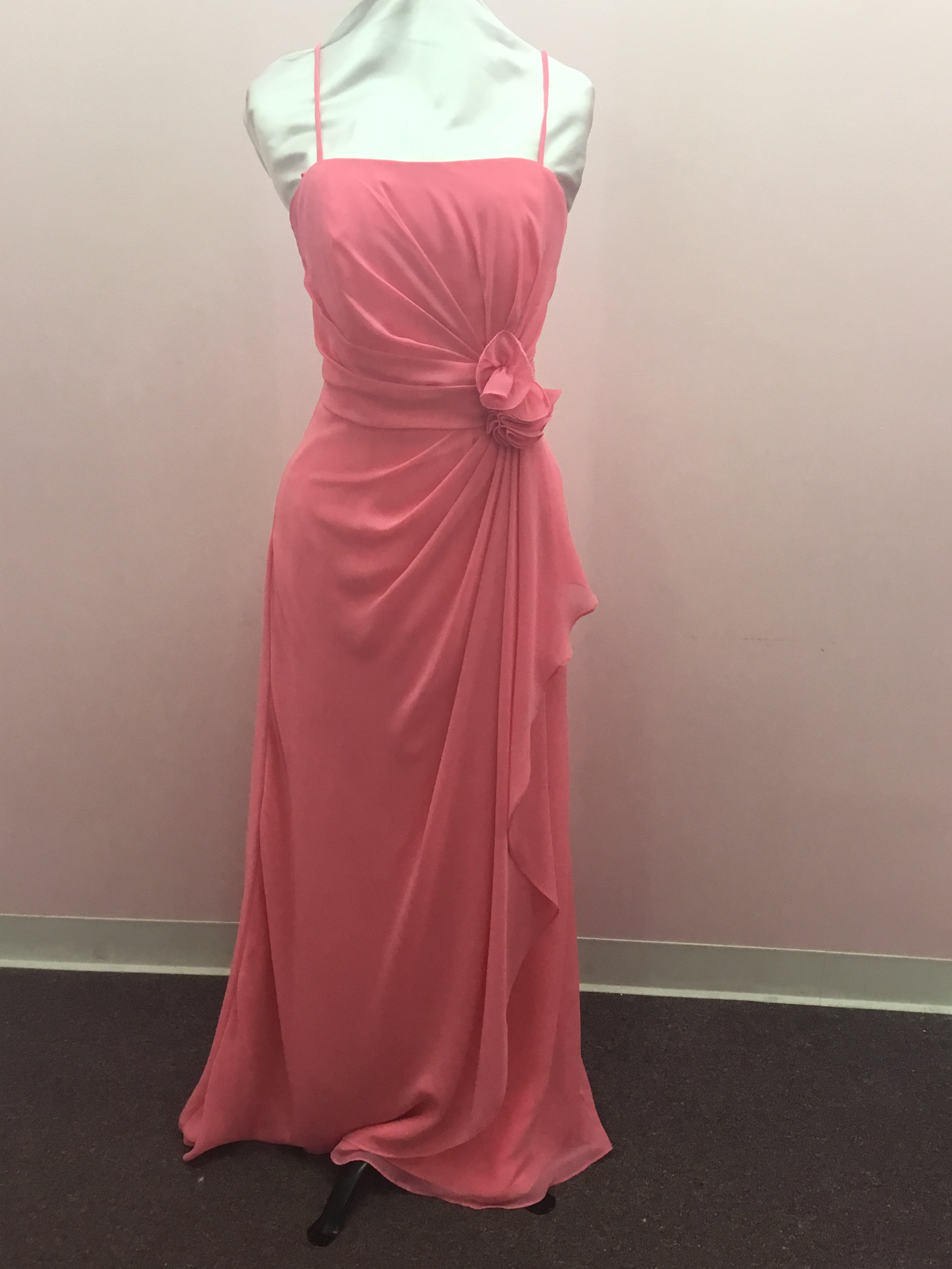 Spaghetti Strap Chanel Pink Gown