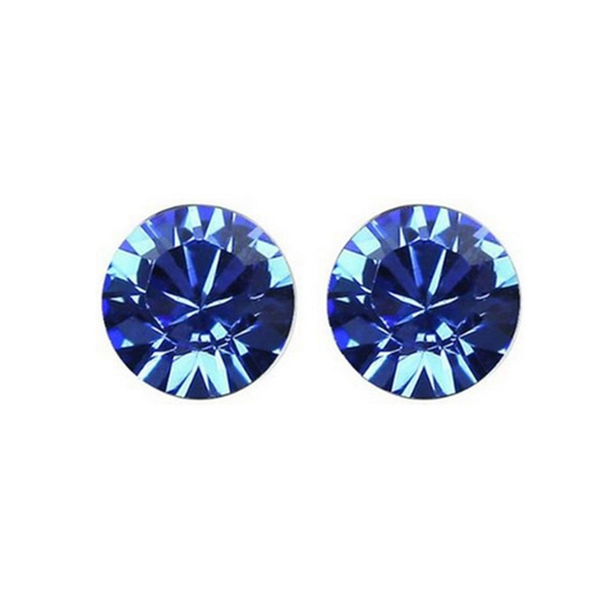 Large Royal Blue Swarovski Elements Crystal Stud Earrings