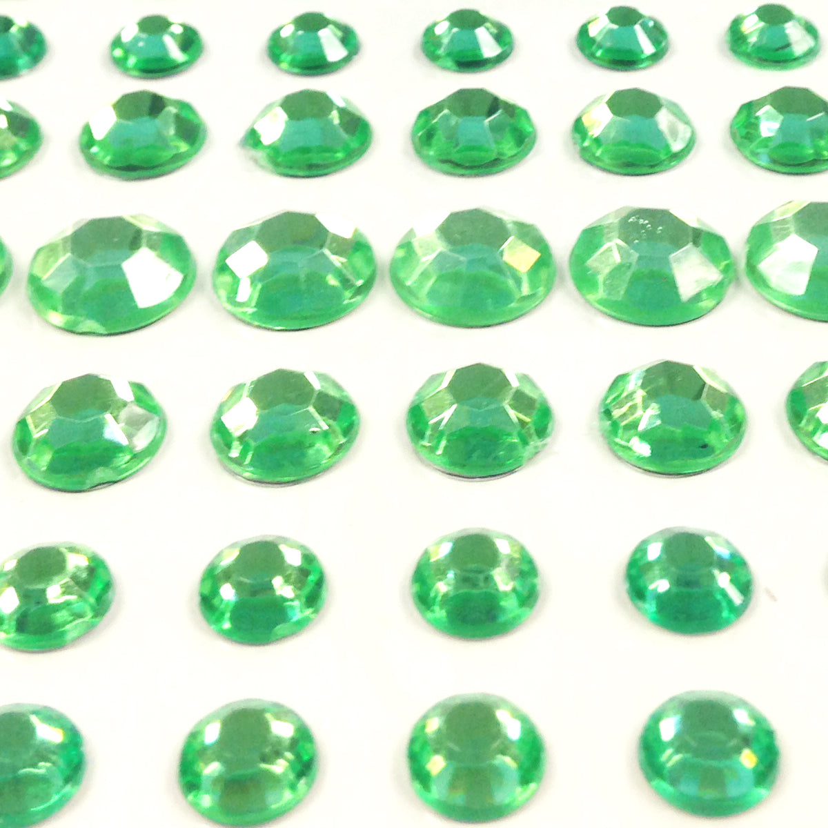 Wrapables 91 Pieces Crystal Diamond Sticker Adhesive Rhinestones 4/6/8/12mm