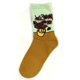 Wrapables Sunflower Floral Bouquet Crew Socks (Set of 2)