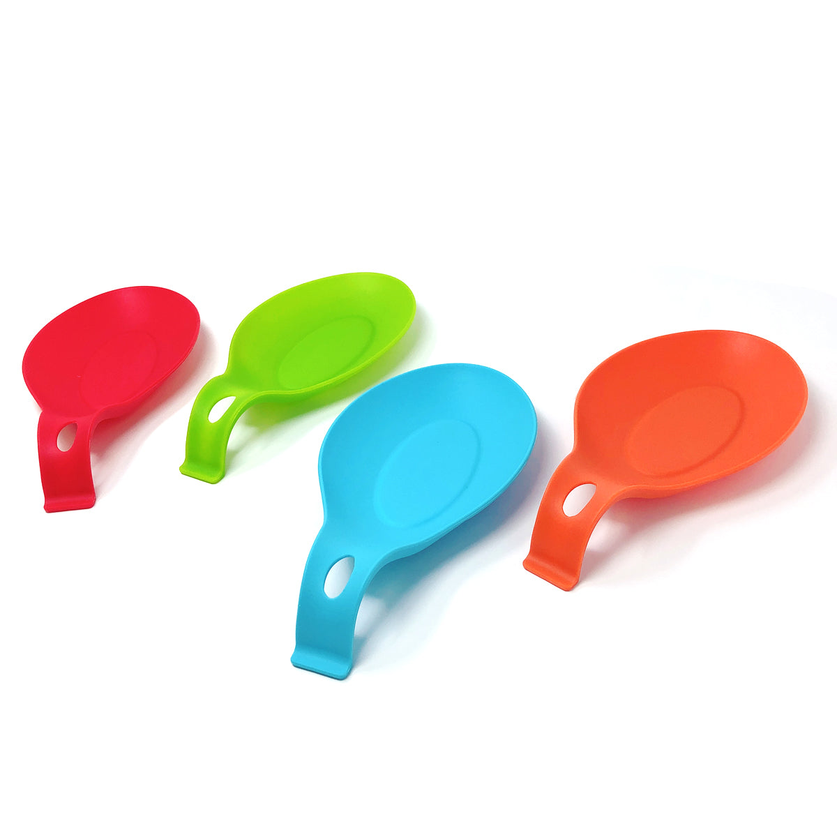 Wrapables® Large Silicon Heat Resistant Spoon Rest Utensil Spatula Ladle Holder (Set of 4)