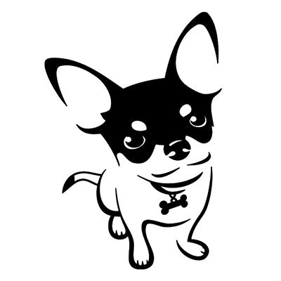 Short Coat Chihuahua Decal Dinky The Pint Size Chihuahua Chihuahua Clothes and Accessories at My Chi and Me