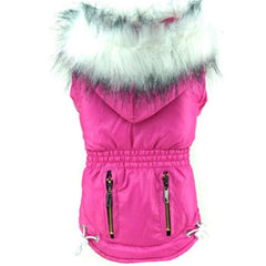 Puppy Chihuahua or Small Dog Designer Fuchsia Pink Parka Style Dog Coat Chihuahua Clothes and Accessories at My Chi and Me
