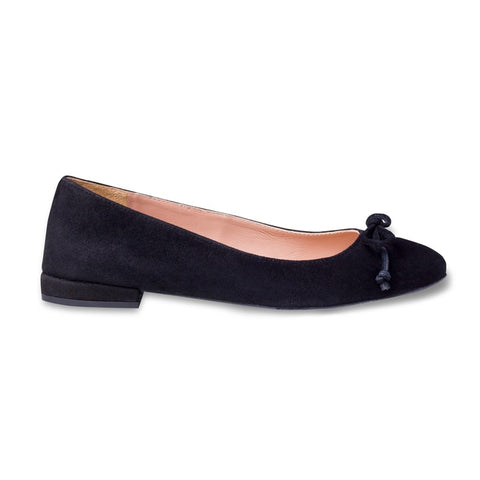Poppy Black Bow Ballerinas