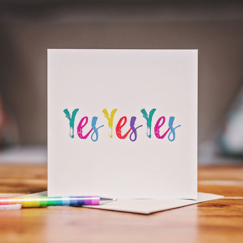 'Yes Yes Yes' Card