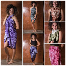 Thai Tie Dye Sarong/Beach Blanket - one size No. 4