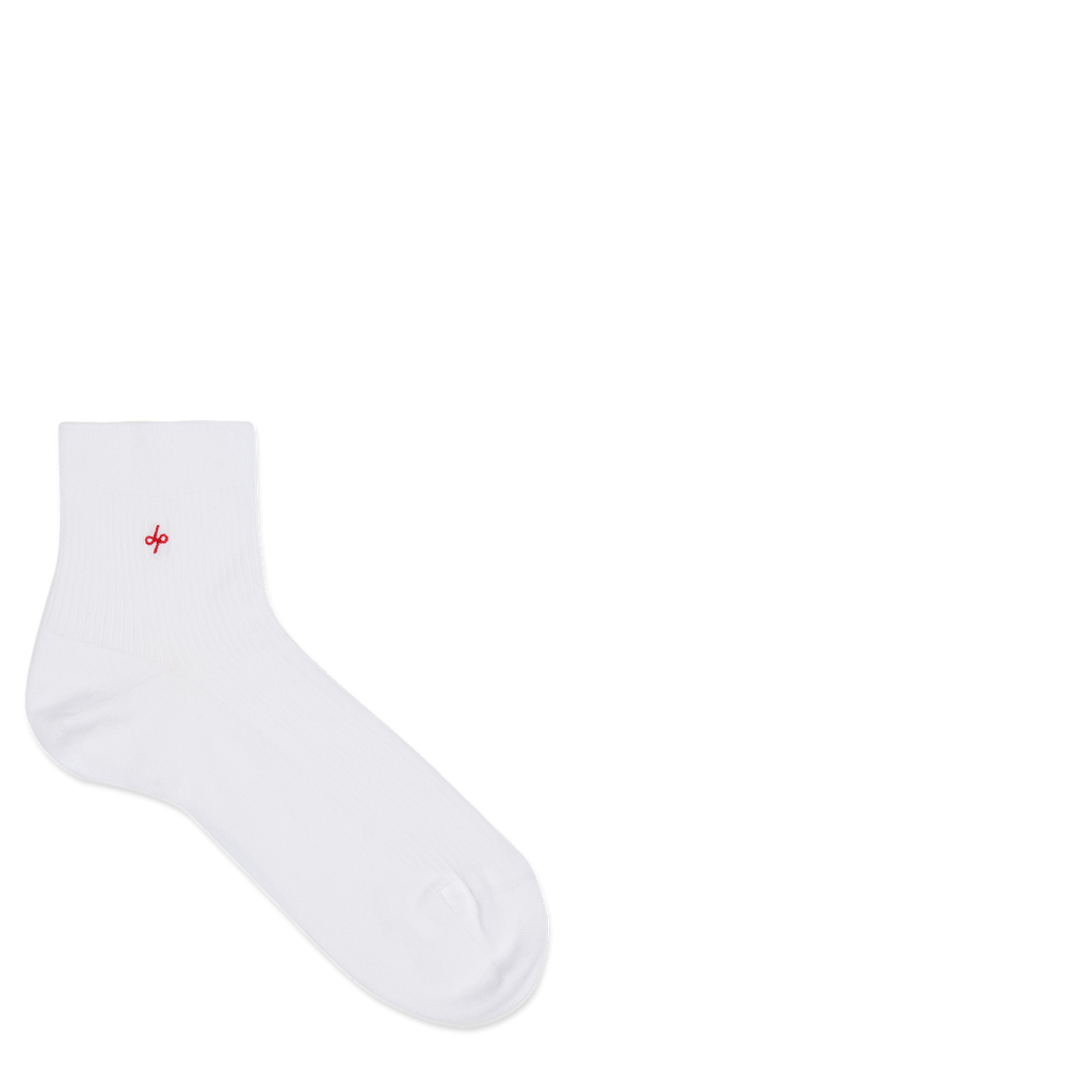 Dueple's Ankle white jack Colored Left Sock