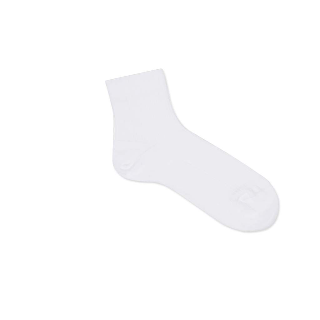 Dueple's Ankle white jack Colored Right Sock