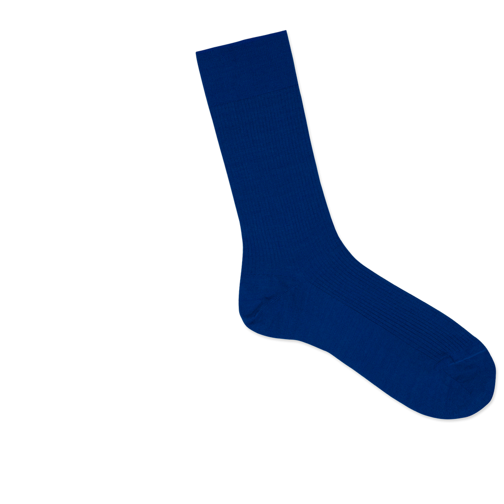 Dueple's Blue royal Colored Right Sock