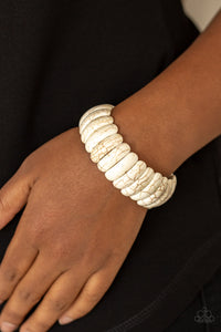Paparazzi Jewelry Bracelet Peacefully Primal - White