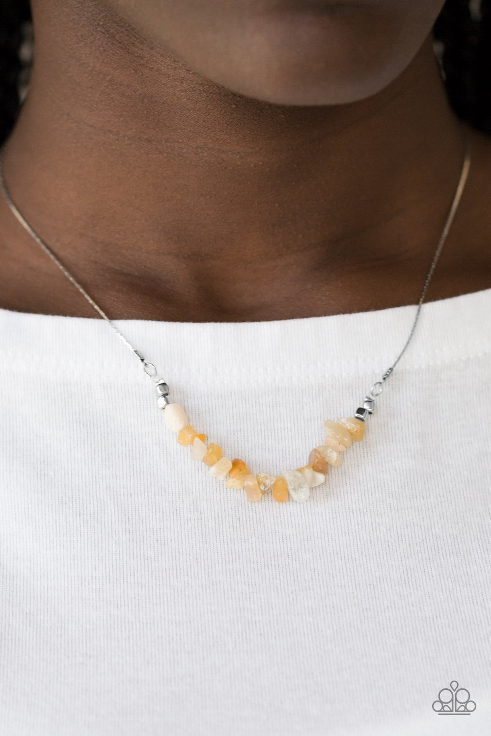 Paparazzi Jewelry Necklace Back To Nature - Yellow