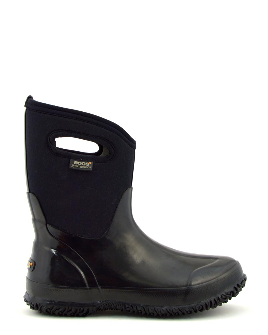 Classic Mid Black Shiny Wellies