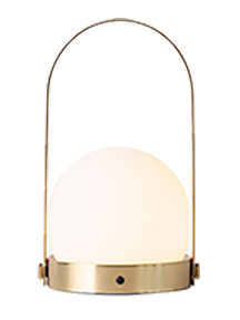 CARRIE PORTABLE LED LAMP - BRUSHED BRASS
