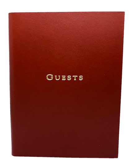 GUEST BOOK, OX BLOOD LEATHER